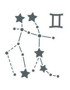 Gemini Sign Constellation Stars