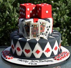 Casino cake if 2 needed. casino cake if 2 needed. Casino Theme Parties, Casino Party, Casino Night, Vegas Party, Vegas Theme, Vegas Casino, Themed Parties, Adult Birthday Cakes, Themed Birthday Cakes