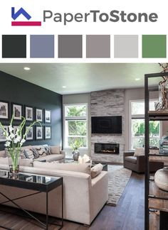 Living room color palette - azure dark-orange gamboge light-gamboge red