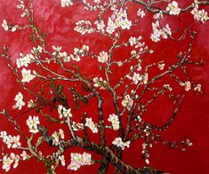 La Pastiche Vincent Van Gogh 'Branches of an Almond Tree in Blossom' Hand Painted Framed Canvas Art (Van Gogh Almond Tree (red) Framed Oil Reproduction) Van Gogh Flower Paintings, Flower Painting Canvas, Oil Painting Flowers, Flower Canvas, Painting Prints, Diy Painting, Canvas Paintings, Vincent Van Gogh, Van Gogh Museum