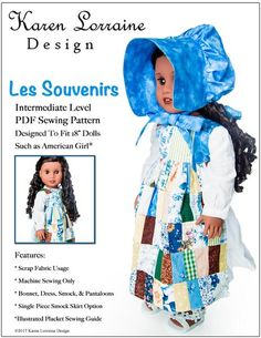 Meet the Maker Doll Clothes Patterns, Pdf Sewing Patterns, Clothing Patterns, Doll Patterns, Lorraine, Pixie, Hook And Loop Tape, 18 Inch Doll, Fabric Scraps