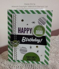 SU - Amazing Birthday, Stamp a Bag, Celebrate Today, Marquee Messages -   This week at Stampin' Royalty we are challenging everyone to a masculine challenge.   I decided to go with a graphic card and use this wee...