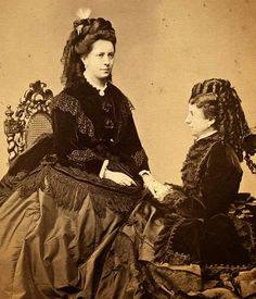 Ida Ferenzcy (right) with Fanny Feifalik, Elisabeth's hairdresser ones confused with Empress Elisabeth on the photo of which it is said that it is the older Elisabeth sitting at a desk...look at my other pics (username Oberon)