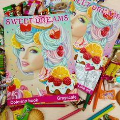 Coloring books  by Alena Lazareva. Sweet dreams.GRAYSCALE and LINE ART edition.  Available on Amazon.  #alenalazareva #coloring #colouring #book #coloringbook #coloringbookforadult #adultcoloring #colorist #adultcoloringbook #colouringbook #amazingcoloring #fairycoloringbook #sweet #sweetdreams #amazon #grayscalecoloringbook #fashioncoloringbook #sweetdreams #sweet
