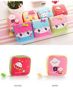 Buy Home Simply Sanitary Pad Pouch Diy Bags No Sew, Kawaii Diy, Unique Purses, Pen Case, Simple Bags, Fabric Bags, Kids Bags, Knitted Bags, Cotton Bag