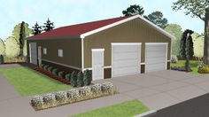 The Newhouse is a simple garage plan perfect for storing multiple vehicles with plenty of room for secondary storage or a workshop. For folks who are looking for a versatile, cost-effective garage, this plan fits the bill with simple structure, and space for a variety of uses.