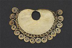 Peru ~ North Coast | Nose ornament; gold, rolling, filigree soldering |  Sicán-Lambayeque culture | 750 - 1375 AD