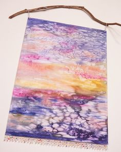 Ocean Blue Wall Art Tapestry  Watercolor by WatercolorMuse1