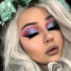 "724 Likes, 60 Comments - human unicorn (@krawallbambi) on Instagram: ""Unicorn vibes :) tested out the new desert dusk palette by @hudabeauty @shophudabeauty ❤️ I'd be…"""