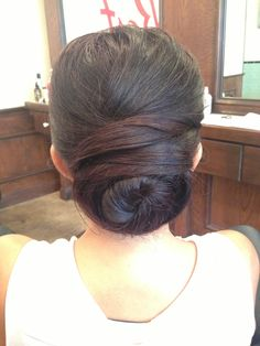 Beautiful sleek and elegant updo. Perfect for mother of the bride