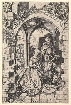 The Nativity  Martin Schongauer  (German, Colmar ca. 1435/50–1491 Breisach)