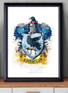 Les enfants de Harry Potter Serdaigle Crest aquarelle Art Poster Print - Wall Decor - Aquarelle - Aquarelle Art - Decor - Decor de pépinière