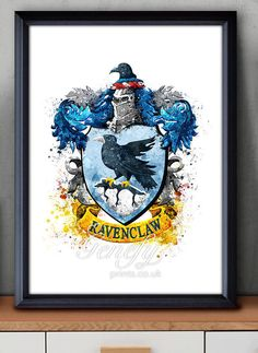 Les enfants de Harry Potter Serdaigle Crest aquarelle Art Poster Print - Wall Decor - Aquarelle - Aquarelle Art - Decor - Decor de pépinière Plus
