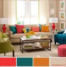 renkli oturma odası dekorasyonları ile ilgili görsel sonucu