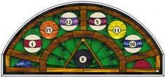 Rack 'em Up -- Stained Glass Pool Table