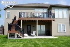 Love this deck and the stairs leading to patio