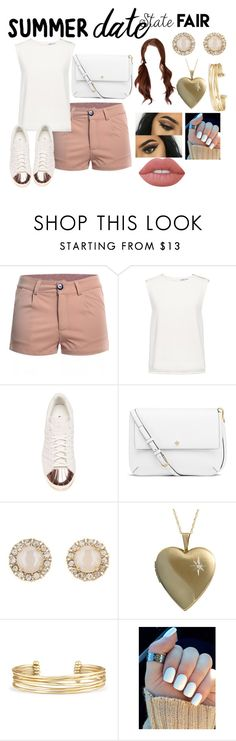 """""""Summer Date: The State Fair"""" by audreymdesigns ❤ liked on Polyvore featuring Finders Keepers, adidas, Tory Burch, Kate Spade, Fremada, Stella & Dot, Lime Crime, statefair and summerdate"""