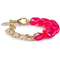 Mint Neon Chain Bracelet