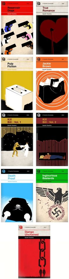 Quentin Tarantino movies reimagined as Penguin book covers