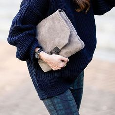 cluse watches+ oversized clutch