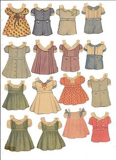 Paper Doll Dresses - So pretty! I loved paper dolls. I had one with wavy red… Paper Art, Paper Crafts, Moda Vintage, Vintage Paper Dolls, Antique Dolls, Little Doll, Paper Toys, Vintage Images, Doll Toys
