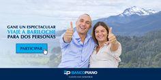 Banco Piano - Complete sus datos y participe por este espectacular viaje a Bariloche. Sume más chances para ganar, compartiendo la promo en sus redes sociales.