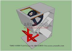 √ Skema Box TANO Horn T118 Bass Jauh | ARA AUDIO Speaker Plans, Speaker Box Design, Diy Speakers, Horns, Bass, Audio, Klipsch Speakers, Speakers, Horn