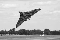 https://flic.kr/p/x6utr8 | Avro Vulcan XH558 | The Avro Vulcan (sometimes referred to as the Hawker Siddeley Vulcan) is a jet-powered delta wing strategic bomber, which was operated by the Royal Air Force (RAF) from 1956 until 1984.