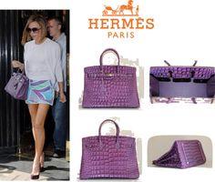 Hermes Purple Birkin Crocodile Bag By Topbirkin On Polyvore
