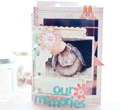 Cute mini album with envelopes - inside pages in post. #scrapbooking