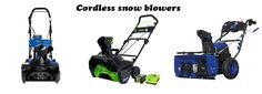 Top 3 cordless snow blowers