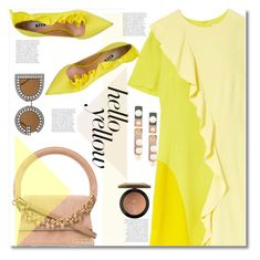 """""""Get Happy: Pops of Yellow"""" by paculi ❤ liked on Polyvore featuring Goen.J, MSGM, MAC Cosmetics, Dolce&Gabbana, Marni, Jacquemus, PopsOfYellow and NYFWYellow"""