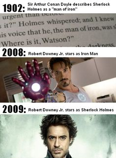 Obviously Sir Arthur Conan Doyle had a time machine...or he was The Doctor's companion for a hot second.
