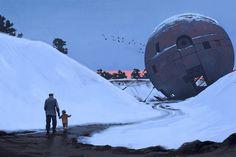 Museum of Science Fiction Science Fiction, Ralph Mcquarrie, Inspiration Artistique, Dystopian Future, Concept Art World, Chef D Oeuvre, City Landscape, Illustration, Design Graphique
