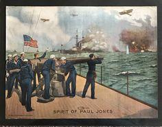 Big Guns, American War, World War One, Image Shows, Wwi, Vintage Posters, Sailor, Spirit, Poster Vintage
