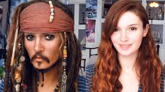 Jack Sparrow Makeup Transformation - Cosplay Tutorial- Well, this was pretty cool.-lm
