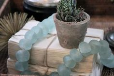 Large Recycled Glass Beads
