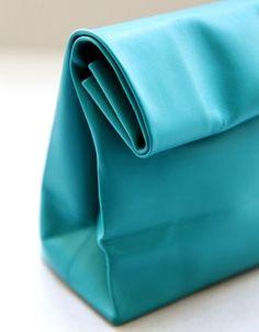 A N V E — SACO DE PAPEL turquoise