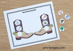 Western cowboy theme for Pre-K, Preschool and Kindergarten. Hands-on literacy and math activities, ideas, crafts and printables. Rhyming Activities, Preschool Themes, Preschool Classroom, Classroom Themes, Classroom Activities, Kindergarten, Cowboy Theme, Western Theme, Western Cowboy