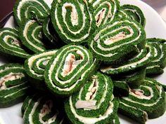 Girelle di frittata al forno agli spinaci