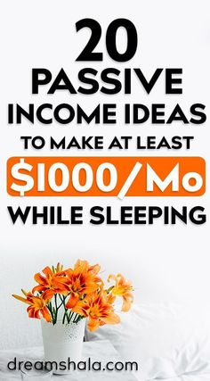 20 Legit Passive Income Ideas To Make Money While You Sleep. Check the list today and start making money using thise legit passive income ideas Earn Money From Home, Make Money Fast, Earn Money Online, Online Earning, Free Money, Online Work From Home, Work From Home Jobs, Online Income, Online Jobs