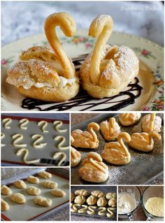 DIY Cream Puff Swan Recipe This reminds me of my Aunt Rose. She made the best cream puffs from scratch. Cream Puff Swans Recipe, Just Desserts, Dessert Recipes, Dinner Recipes, French Desserts, Puff Pastry Recipes, Pastries Recipes, Homemade Pastries, Snacks