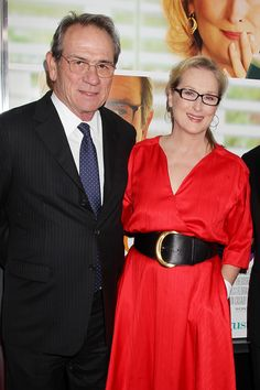 NEW YORK, NY - August 6, 2012: Tommy Lee Jones and Meryl Streep at the Premiere for Columbia Pictures' HOPE SPRINGS at the School of Visual Arts Theatre.  © 2012 Columbia TriStar Marketing Group, Inc. All Rights Reserved.