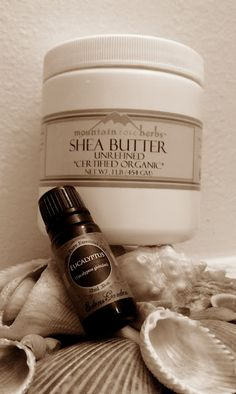 Homemade vapor rub with only 2 ingredients: shea butter + eucalyptus oil