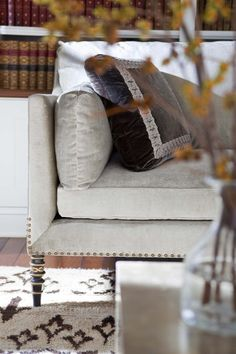white T design | simple #Details, #nailhead, #trims make the difference