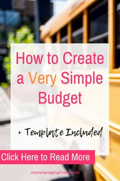 The 6 Budget Categories You Need for Your Simple Budget Making A Budget, Making Ideas, Best Money Saving Tips, Saving Money, Money Tips, Simple Budget Template, Budget Tracking, Setting Up A Budget, Budget Sheets