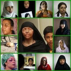 These women who disobey have acid thrown on their faces. This is the face of sharia law and the Muslim Brotherhood. YOUR government (under Obama) gives money to the Muslim Brotherhood. Stop closing your eyes to this. by madelyn