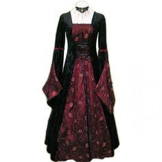 Vestido medieval black burgundy - D-Gótico http://www.d-gotico.com/vestidos-de-novia/254-vestido-medieval-black-burgundy.html
