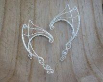 Elven Ear Cuffs Silver Fairy Elf