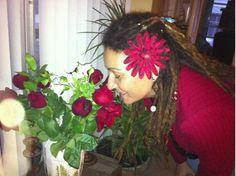 Happy Valentine's Day! My 3 year old V-day adorned dreadies. :) #dreads #dreadlocks #love